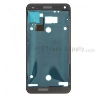 For HTC One Front Housing Replacement (International Version) - Black - Grade S+