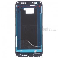 For HTC One M8 Front Housing without Top and Bottom Cover Replacement - Black - Grade S+