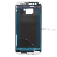 For HTC One M8 Front Housing without Top and Bottom Cover Replacement - White - Grade S+