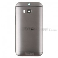 For HTC One M8 Rear Housing Replacement (Gray) - With Logo - With Words - Grade S+