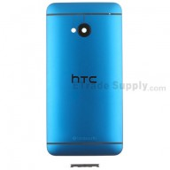 For HTC One Rear Housing Replacement (Turquoise) - With Logo - Without Words - Grade S+