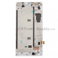 For Huawei Ascend G6 LCD Screen and Digitizer Assembly with Front Housing  Replacement - White - With Logo - Grade S+
