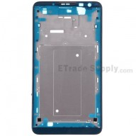 For Huawei Ascend Mate2 4G Front Housing  Replacement - Black - Grade S+