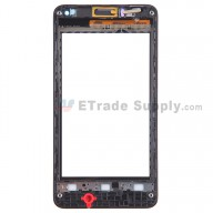 For Huawei Ascend Y300 Digitizer Touch Screen with Front Housing Replacement - Black - With Logo - Grade S+