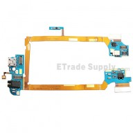 For LG G2 D802 Charging Port Flex Cable Ribbon with Earphone Jack Replacement - Grade S+