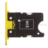 For Nokia Lumia 1020 SIM Card Tray Replacement - Yellow - Grade S+