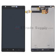 For Nokia Lumia 1520 LCD Screen and Digitizer Assembly Replacement - Black - With Logo - Grade S+