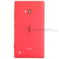 For Nokia Lumia 720 Battery Door Replacement - Red - Grade S+