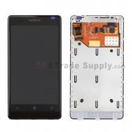 For Nokia Lumia 800 LCD Screen and Digitizer Assembly with Frame Replacement - Grade S+