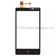 For Nokia Lumia 820 Digitizer Touch Screen Replacement - Without Carrier Logo - Grade S+