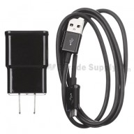 For Samsung Galaxy Note II Series Adapter and USB Data Cable - Black - Grade S+