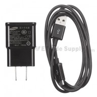 For Samsung Galaxy S4 GT-I9500/I9505/I545/L720/R970/I337/M919/I9502 Adapter and USB Data Cable - Black - Grade S+