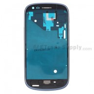For Samsung Galaxy S III Mini I8190 Front Housing Replacement - Blue - Grade S+