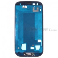 For Samsung Galaxy S III (S3) GT-I9300 Front Housing Replacement - Black - Grade S+