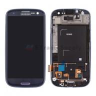For Samsung Galaxy S III SGH-I747/T999 LCD Screen and Digitizer Assembly with Front Housing Replacement - Black - Grade S+