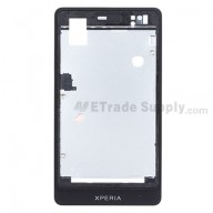 For Sony Xperia go ST27i Front Housing Replacement - Black - Grade S+