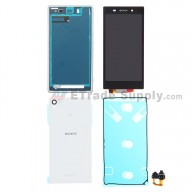 For Sony Xperia Z1 L39h LCD Screen and Digitizer Assembly with Complete Housing Replacement - White - Grade S+