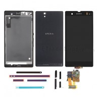 For Sony Xperia Z L36h LCD Screen and Digitizer Assembly with Complete Housing Replacement - Black - Grade S+