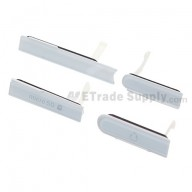 For Sony Xperia Z L36h SD Card Cap Set Replacement - White - Grade S+