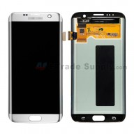 For Samsung Galaxy S7 Edge SM-G935/G935F/G935A/G935V/G935P/G935T/G935R4/G935W8 LCD and Digitizer Assembly Replacement - Silver - With Logo - Grade S