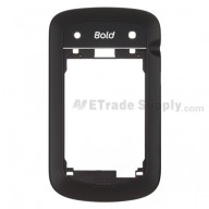 For BlackBerry Bold Touch 9900 Rear Housing Replacement - Black - Grade A