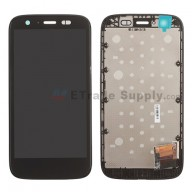 For Motorola Moto G XT1032 LCD Screen and Digitizer Assembly with Front Housing Replacement - Black - Without Any Logo - Grade S+