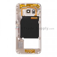 For Samsung Galaxy S6 Edge SM-G925A Rear Housing Replacement - Gold - Grade S+
