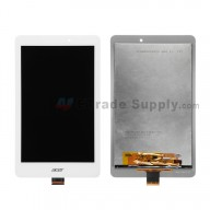 For Acer Iconia Tab 8 A1-840FHD LCD Screen and Digitizer Assembly  Replacement - White - With Logo - Grade S+