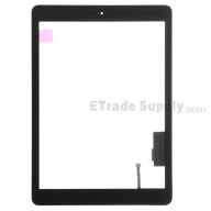 For Apple iPad Air Digitizer Touch Screen Assembly Replacement (Wifi Plus 3G Version) - Black - Grade S