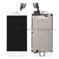 For Apple iPhone 6 LCD Digitizer Assembly with Frame and Small Parts Replacement (Without Home Button) - White - Grade S