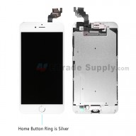 For Apple iPhone 6 Plus LCD Screen and Digitizer Assembly with Frame and Home Button Replacement - Silver - Grade S+
