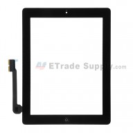 For Apple iPad 3 Digitizer Touch Screen Assembly Replacement (Wifi+Cellular) - Black - Grade R