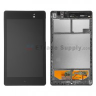 For Asus Google Nexus 7 (2013) LCD Screen and Digitizer Assembly with Front Housing Replacement (Wifi Version) - Black - Grade S+