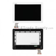 For Asus Transformer Pad TF103 LCD Screen and Digitizer Assembly Replacement - White - With Logo - Grade S+