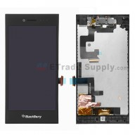 For Blackberry Leap LCD Screen and Digitizer Assembly with Frame and Front Camera Replacement - Black - Grade S+