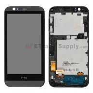 For HTC Desire 510 LCD Screen and Digitizer Assembly with Front Housing  Replacement - Black - With Logo - Grade S+