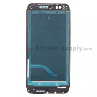 For HTC One E8 Front Housing without Top and Bottom Cover  Replacement - Black - Grade S+