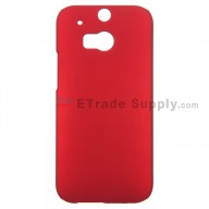 For HTC One M8 Protective Case - Red - Grade R