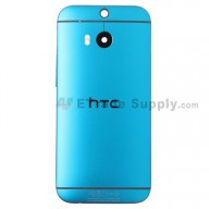 For HTC One M8 Rear Housing Replacement (Blue) - With Logo - With Words - Grade S+