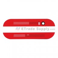 For HTC One M8 Top Cover and Bottom Cover  Replacement - Red - Grade S+