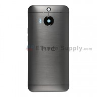 For HTC One M9+ Rear Housing Replacement (Gray) - Without Words - Grade S+