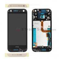 For HTC One Mini 2 LCD Screen and Digitizer Assembly with Front Housing Replacement - Gold - Grade S+
