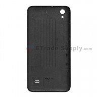 For Huawei Ascend G620S Battery Door Replacement - Black - With Logo - Grade S+