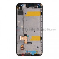 For Huawei Ascend G7 LCD Screen and Digitizer Assembly with Front Housing  Replacement - Black - With Logo - Grade S+