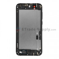 For Huawei Ascend G7 Rear Housing without Top and Bottom Cover Replacement - Gray - With Logo - Grade S+