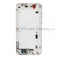 For Huawei Ascend G7 Rear Housing without Top and Bottom Cover Replacement - White - With Logo - Grade S+