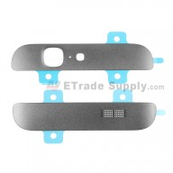 For Huawei Ascend G7 Top and Bottom Cover Replacement - Gray - Grade S+