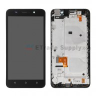 For Huawei Honor 4X LCD Screen and Digitizer Assembly with Front Housing Replacement - Black - Without Logo - Grade S+