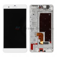 For Huawei Honor 6 Plus LCD Screen and Digitizer Assembly with Front Housing  Replacement - White - Without Logo - Grade S+