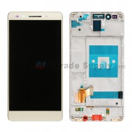 For Huawei Honor 7 LCD Screen and Digitizer Assembly with Front Housing Replacement - Gold - Without Logo - Grade S+